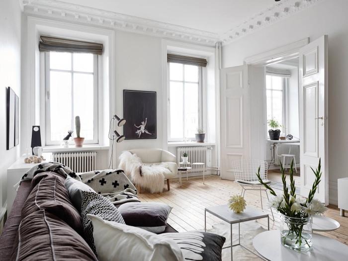 Pohodov skandin vsk interi r designville Wohnzimmer scandi style