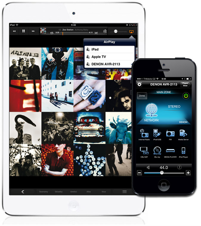 Airplay iPad iPhone with Denon AVR-2113 AV receiver