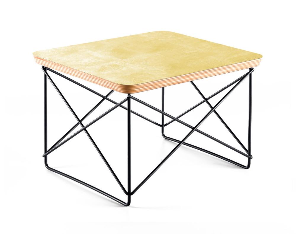 Occasional Table Ltr Gold Leaf Designville