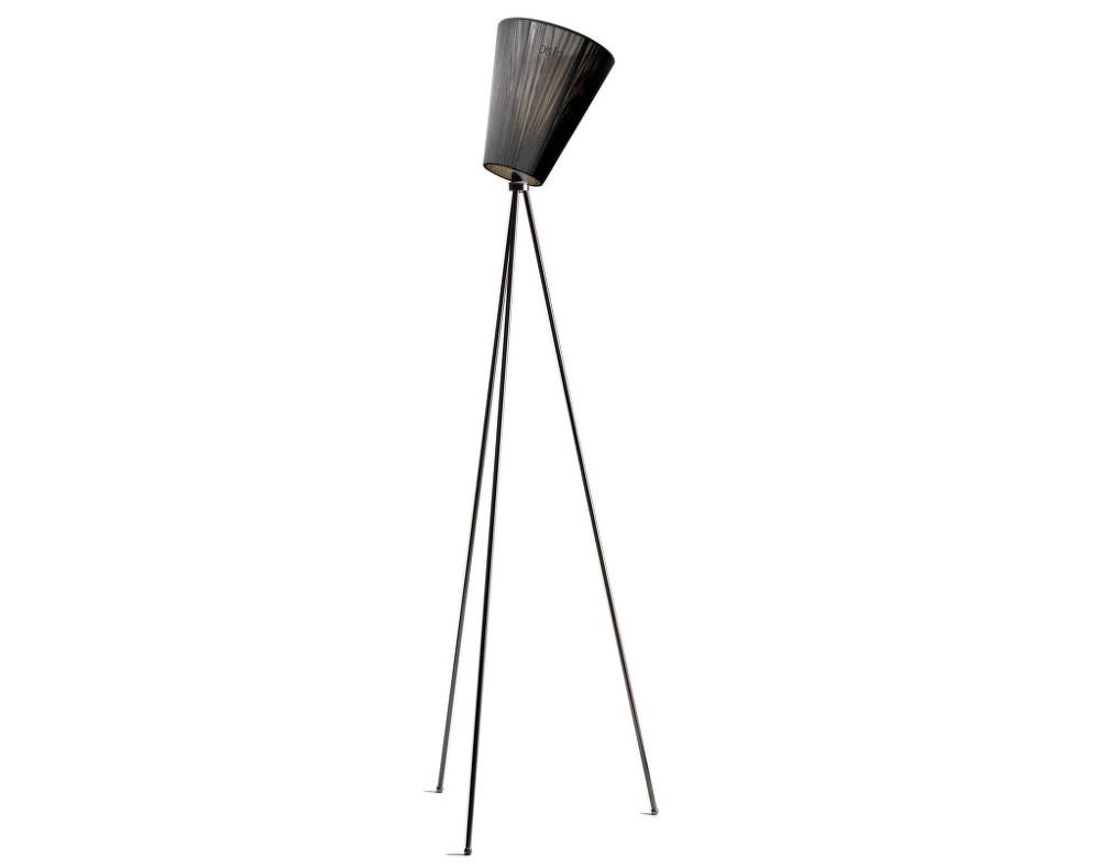 Stor Stojací lampa Oslo Wood, black | DesignVille HS-19