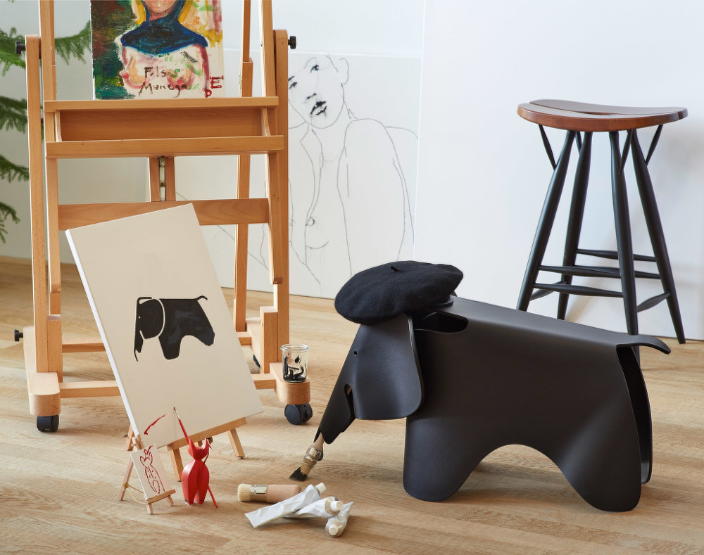 slon eames elephant deep black designville. Black Bedroom Furniture Sets. Home Design Ideas