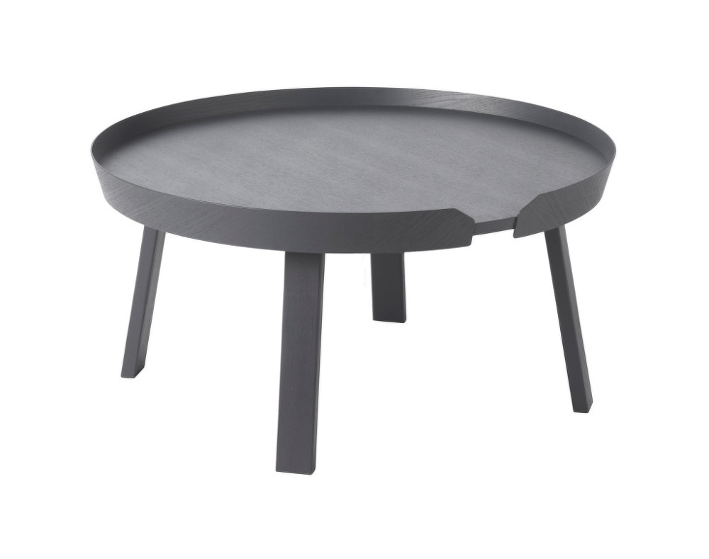 Stolek Around Coffee Table Od Muuto Velk Antracit