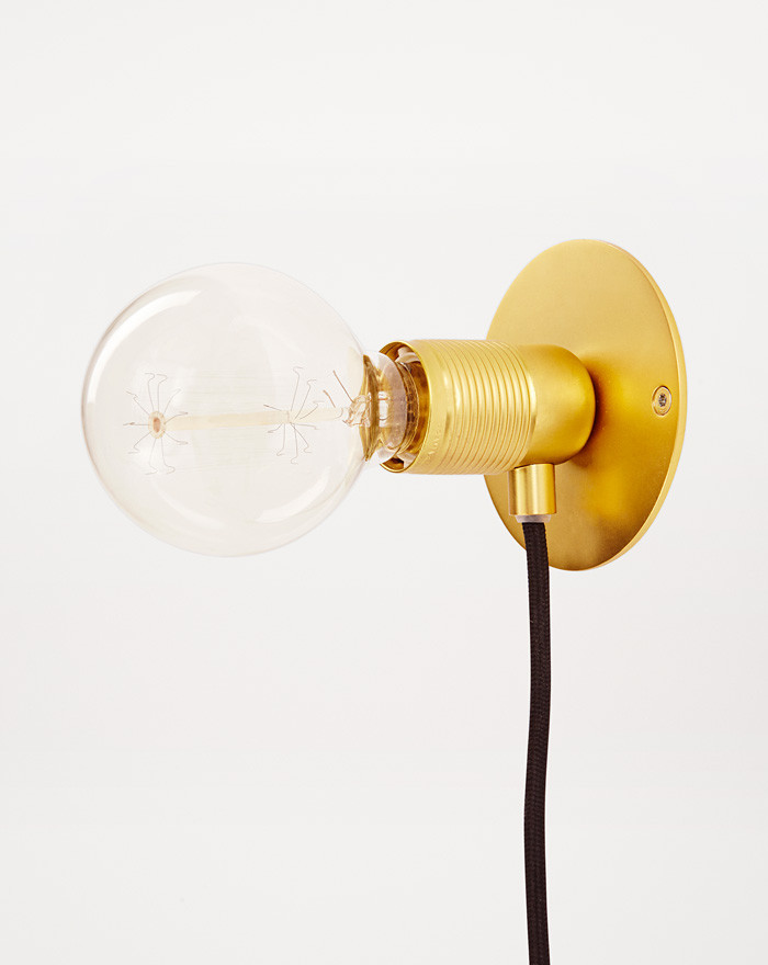 E27 Wall Light, Brass