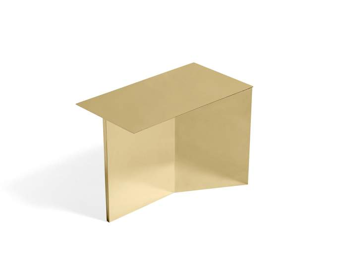 Slit Oblong Side Table, brass