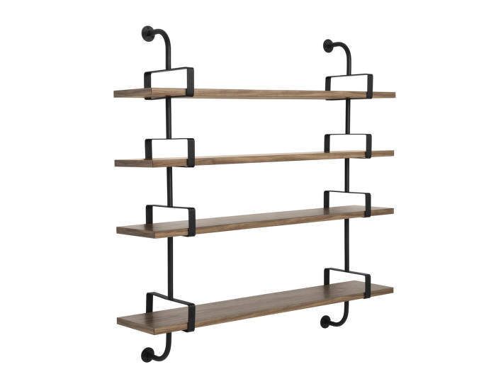 Police Démon 2, 155cm, 4 shelves, walnut
