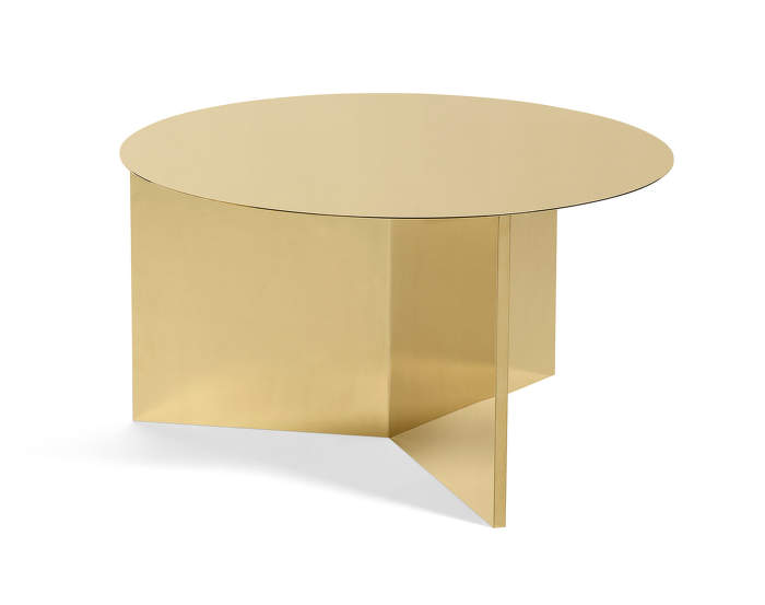 Stolek Slit XL Coffee, brass
