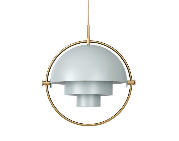 Lampa Multi-Lite, sea grey/brass