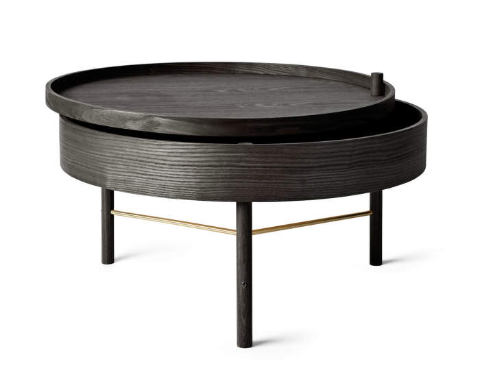 Stolek Turning Table, Black Ash