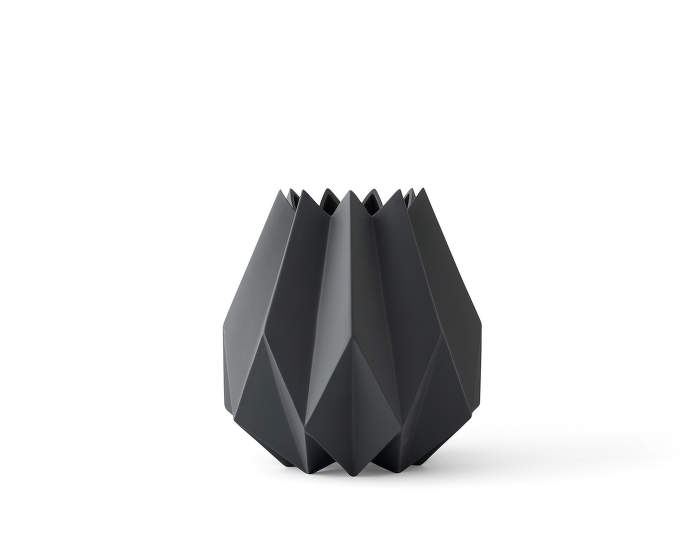 Folded Vase, Tall, Carbon
