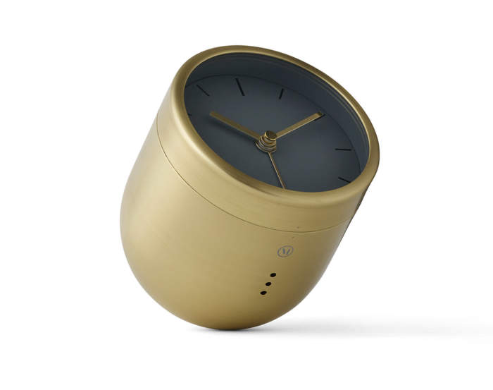 Tumbler Alarm Clock, Brushed Brass