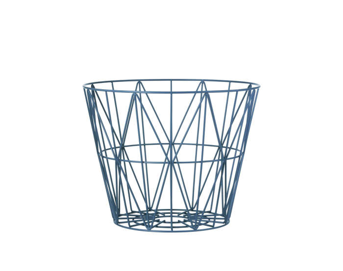 Wire Basket Small, Petrol