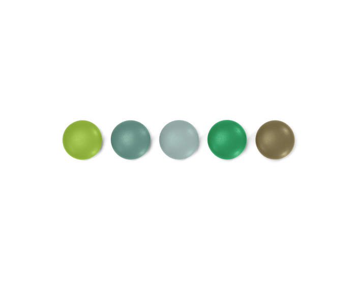 Magnety Vitra Magnet Dots, set 5 ks, green