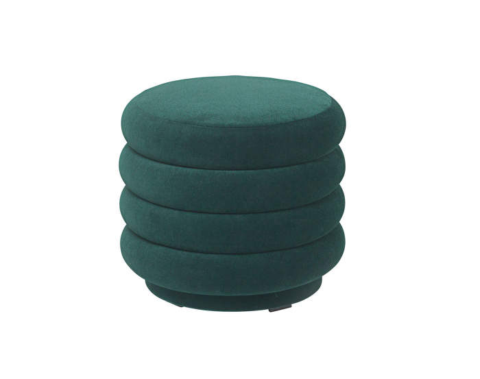 Pouf Round small, dark green