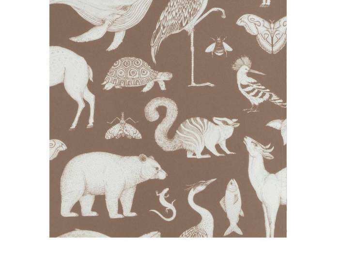 Tapeta Katie Scott Animals, brown