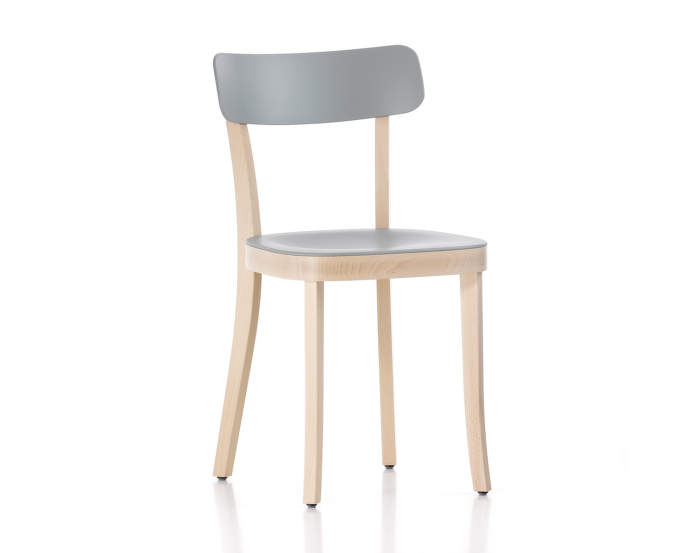 Basel Chair, light grey/ beech