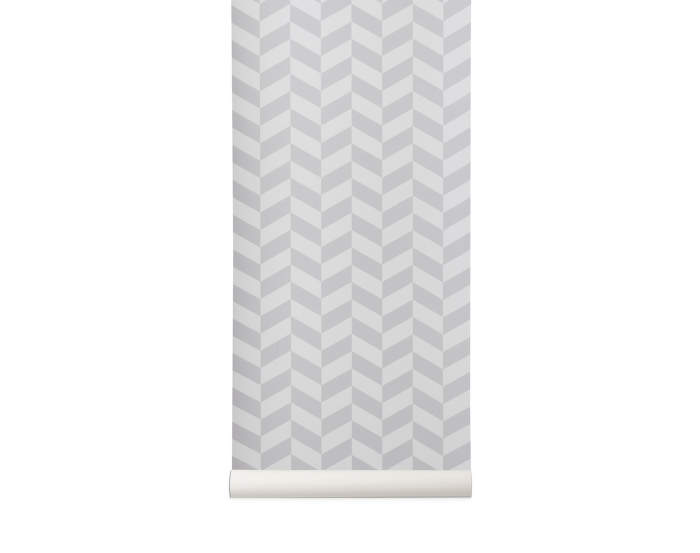 Wallpaper Angle, grey, Ferm Living