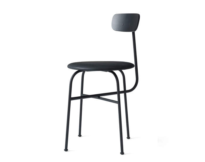 Afteroom Dining Chair 4, leather, black/black