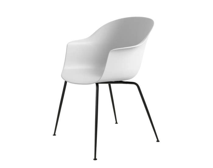 Bat Dining Chair, nečalouněná, pure white