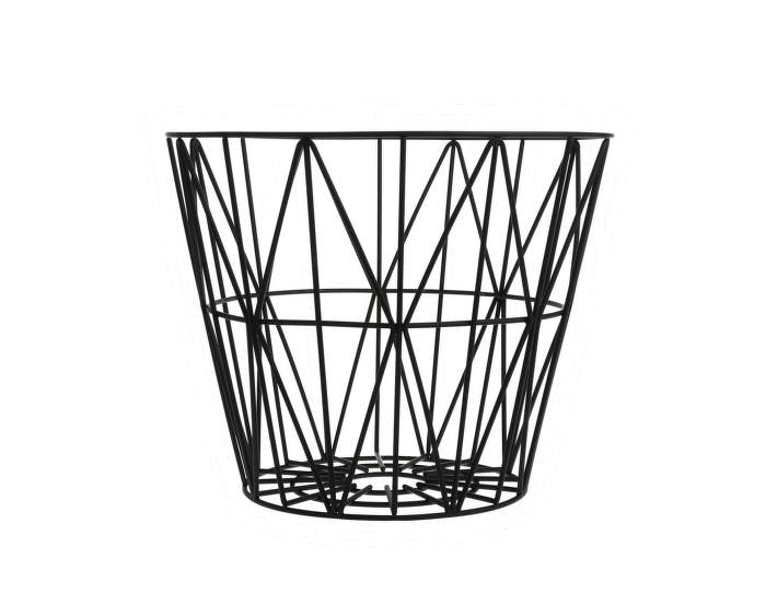 Wire Basket Medium, Black