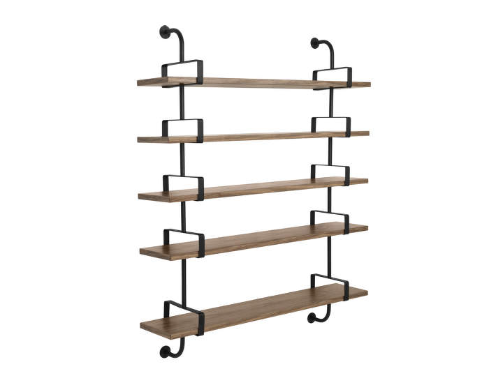 Police Démon 2, 155cm, 5 shelves, walnut