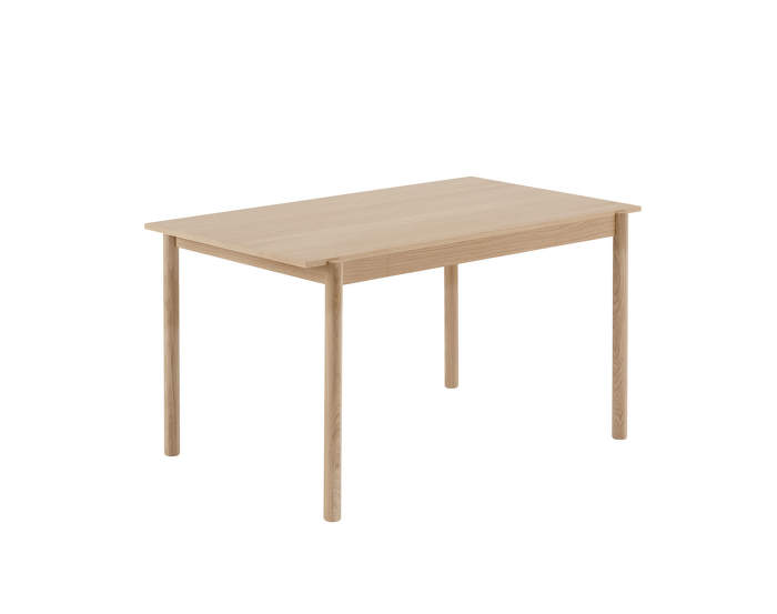 Linear wood table, 140 cm