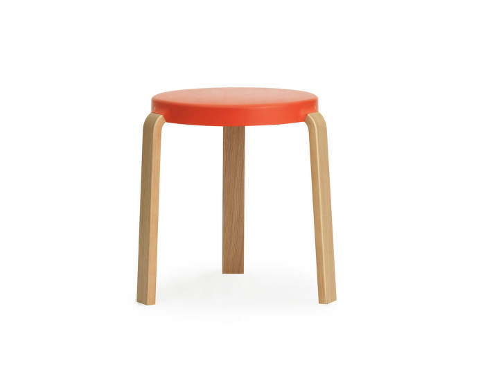 Stolička Tap Stool, spicy orange/dub