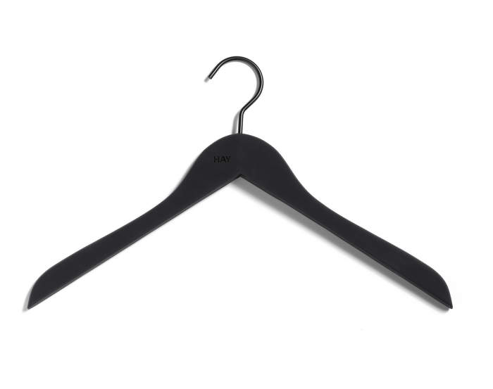 Ramínka Soft Coat Hanger Slim Black, set 4ks