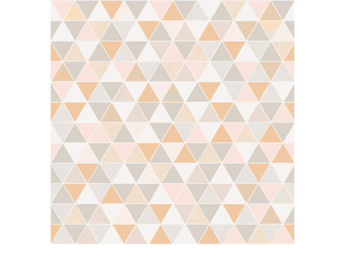 Tapeta Triangular, pink/beige