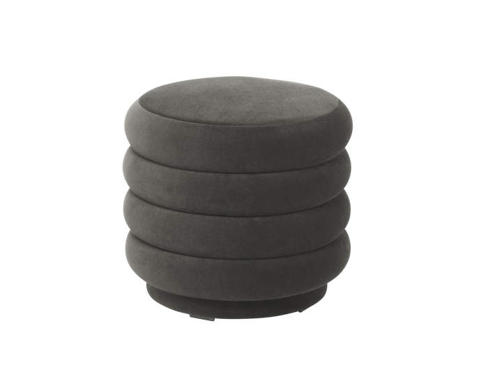 Pouf Round small, dark grey