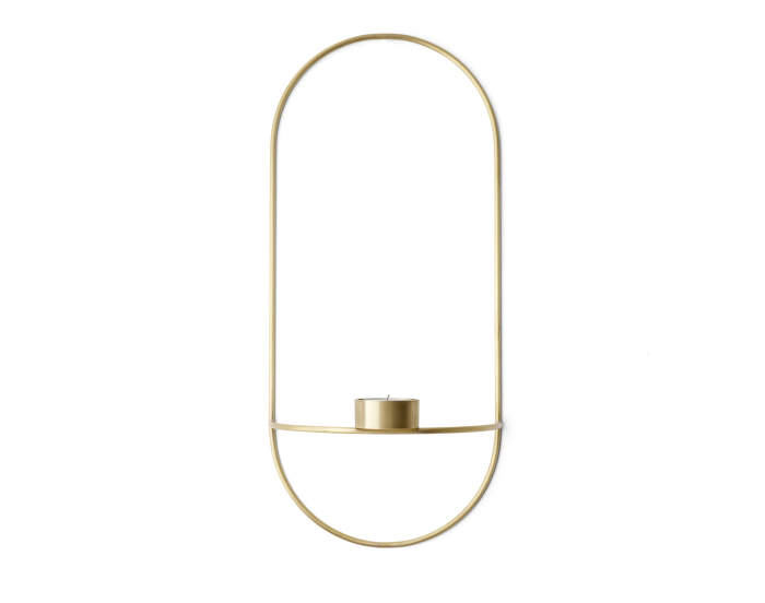 POV Oval Tealight Holder, brass