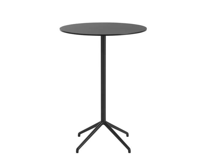 Still Café Table Ø75 x 105 cm, black