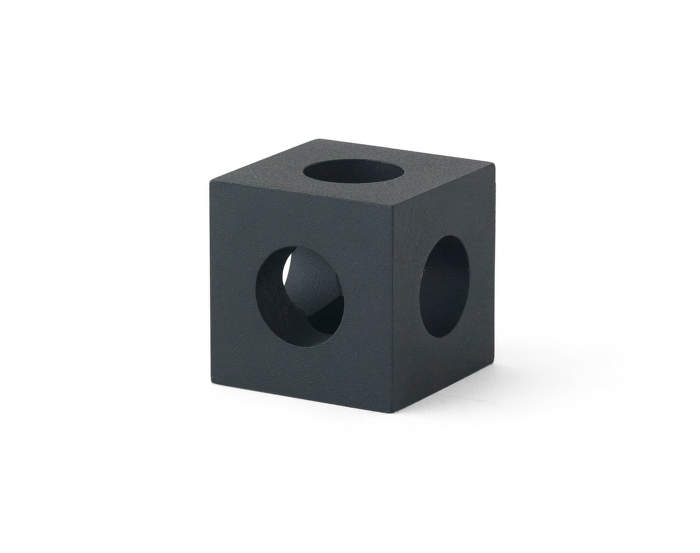 Cube Candle Holder, Black