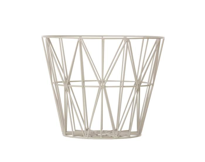 Wire Basket Medium, Grey