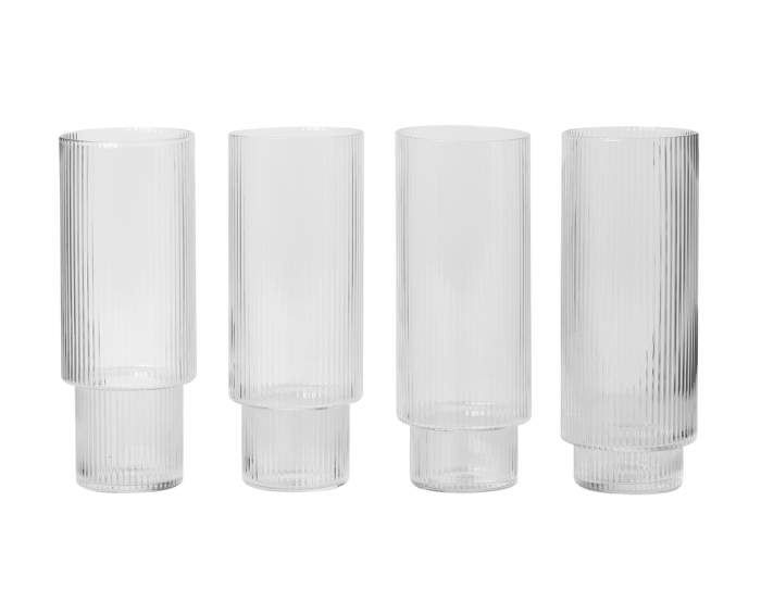Ripple Long Drink Glasses