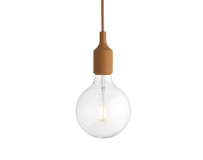 Závěsná LED lampa E27, clay brown