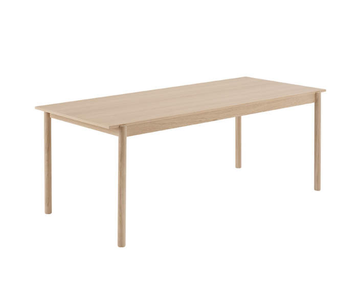 Linear wood table, 200 cm
