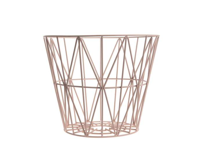 Wire Basket Medium, Rose