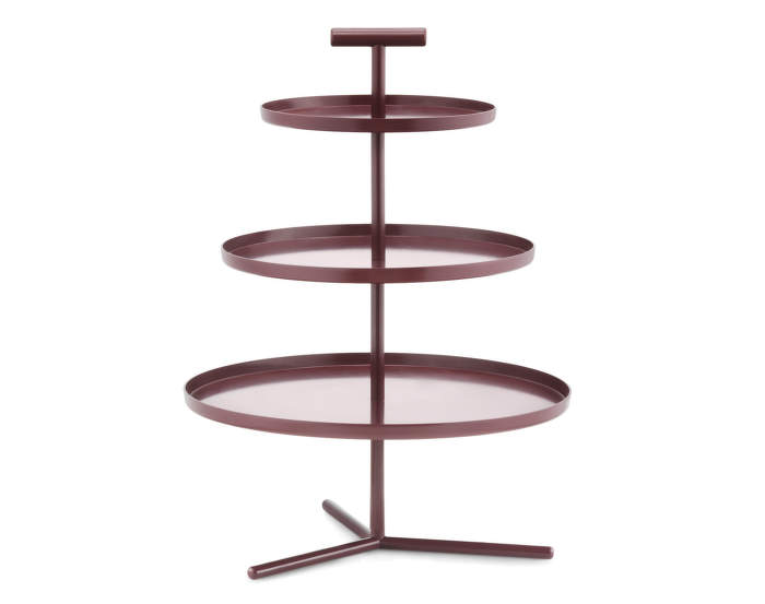 Glaze 3 Tier Cake Stand Dark Red