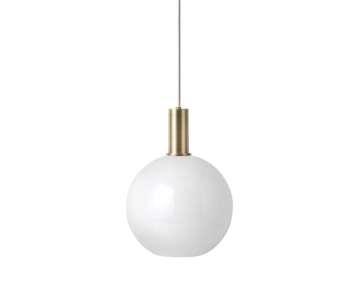 Lampa Collect Low, brass/opal sphere