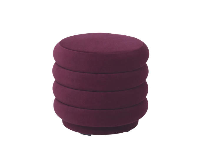 Pouf Round small, bordeaux
