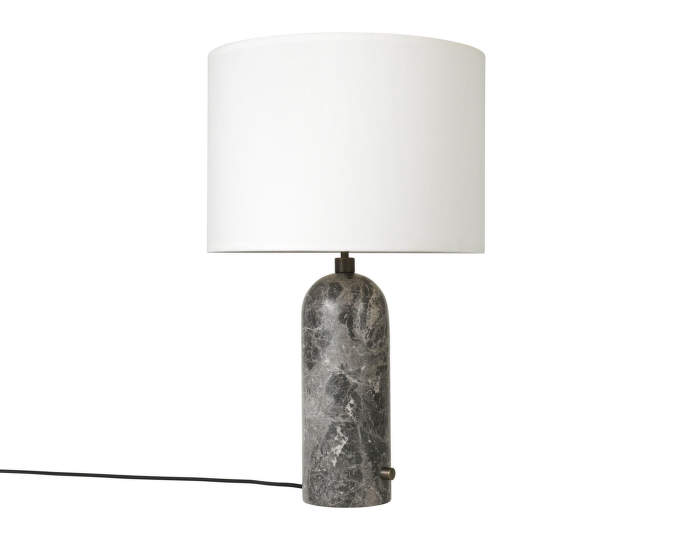 Stolní lampa Gravity large, grey marble, white