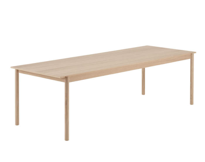 Linear wood table, 260 cm