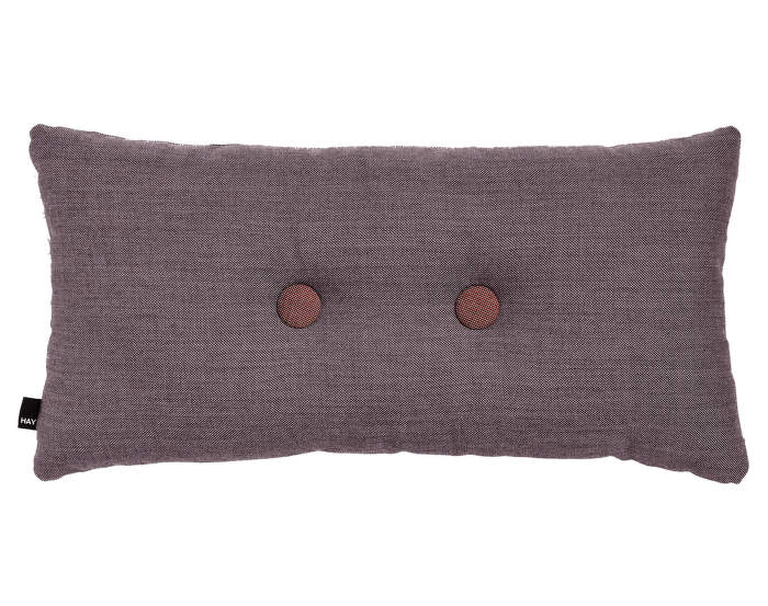 Cushion 2 Dots Surface Greyish Burgundy