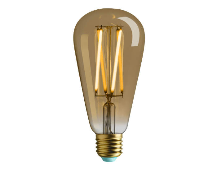 LED retro žárovka WattNott Willis 4,5W, Gold