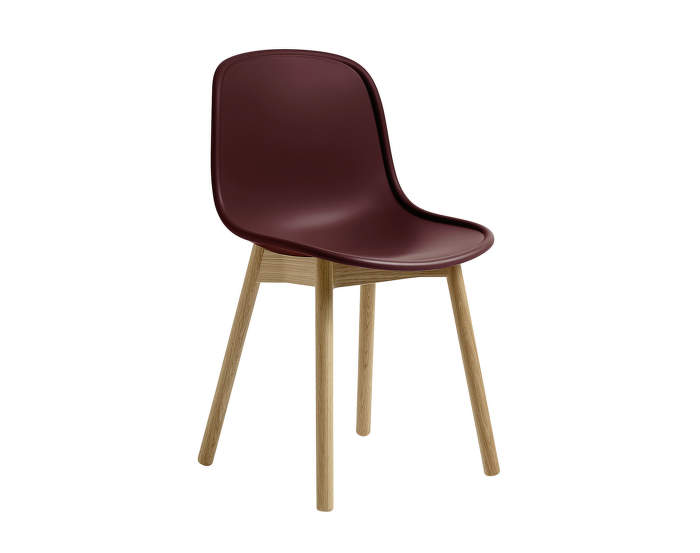 Židle Neu 13 Matt Lacquered Solid Oak, bordeaux