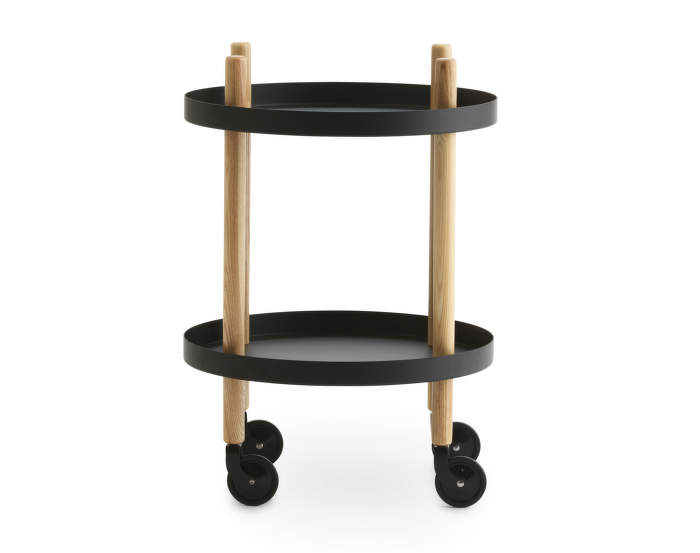 Block Table Round, black