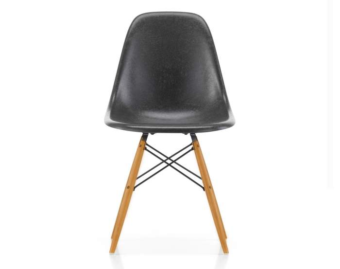 Eames Fiberglass DSW, elephant hide grey/golden maple