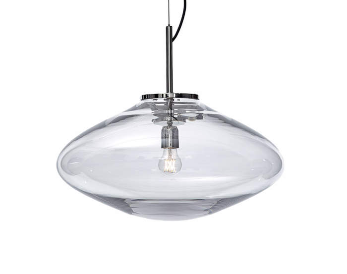 Lampa Disc, clear/nickel