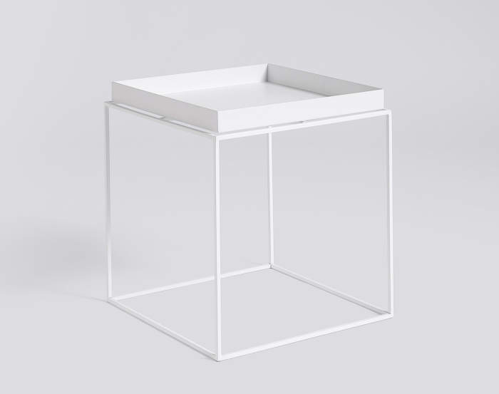 Stolek Hay Tray Table 40x40, white