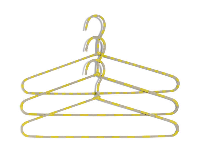 Ramínko Cord Hanger Stripe, yellow, set 3ks
